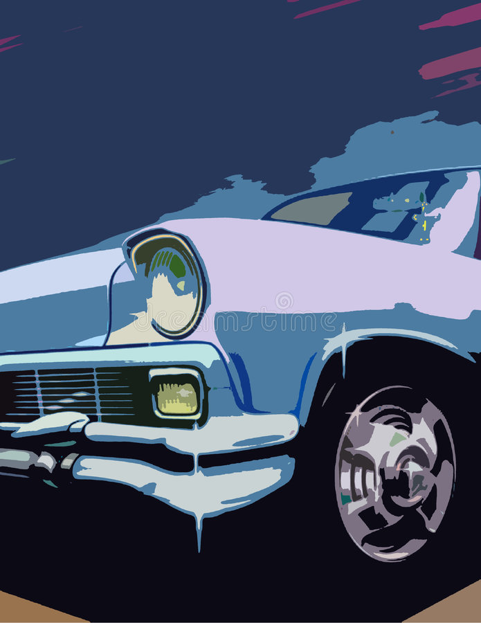 Automobile bleue image stock