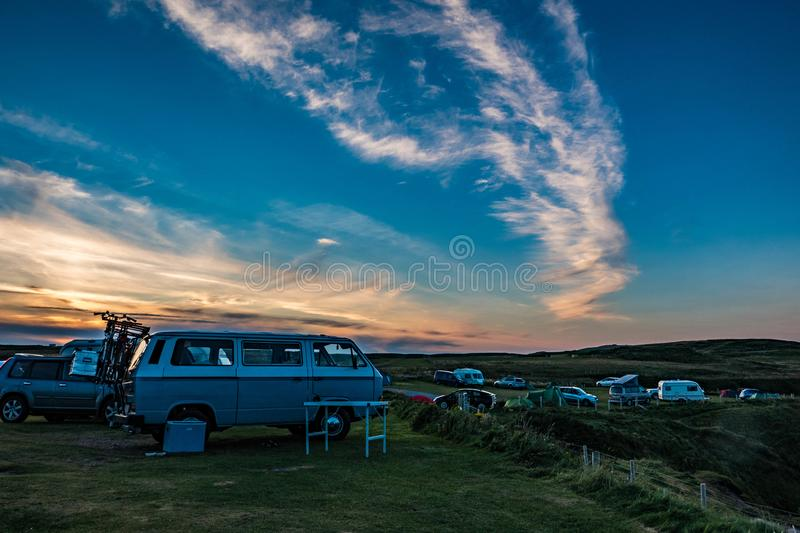 Automobile, Campervan, Camping stock photography