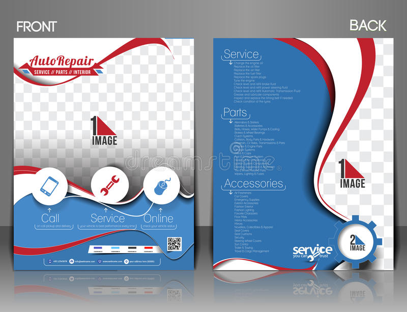 Automobile Center Flyer. Automobile Center Front & Back Flyer, Magazine & Poster Template