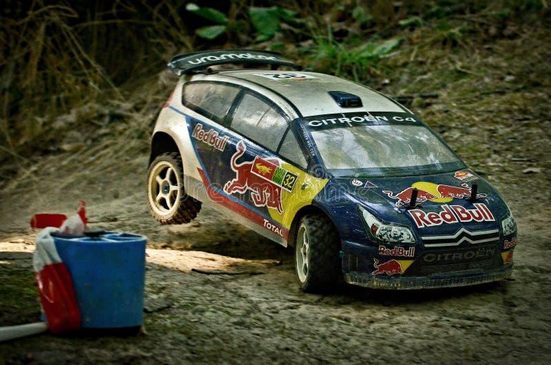 Automobile Citroen C4 WRC di raduno di Rc immagine stock