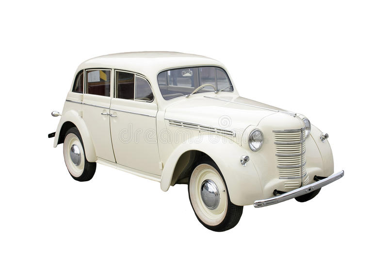 Automobile classica bianca fotografia stock libera da diritti