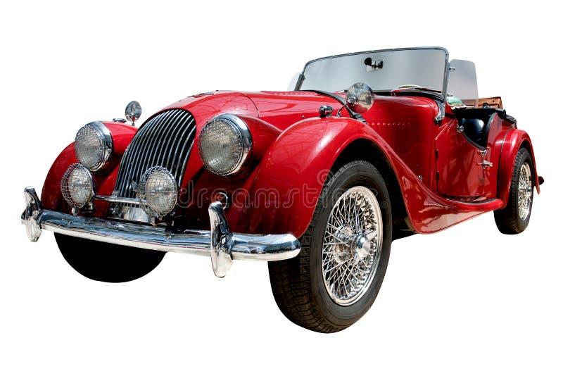 Automobile classica convertibile di sport dell'annata isolata fotografia stock