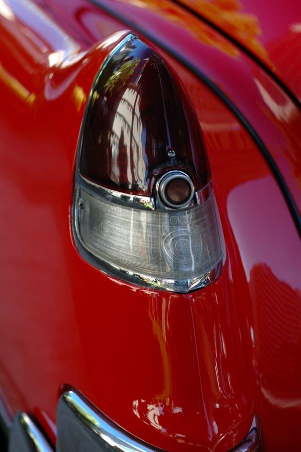 Automobile classica lucida e rossa fotografia stock