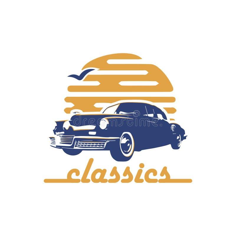 Automobile classica, retro scaletta fotografia stock
