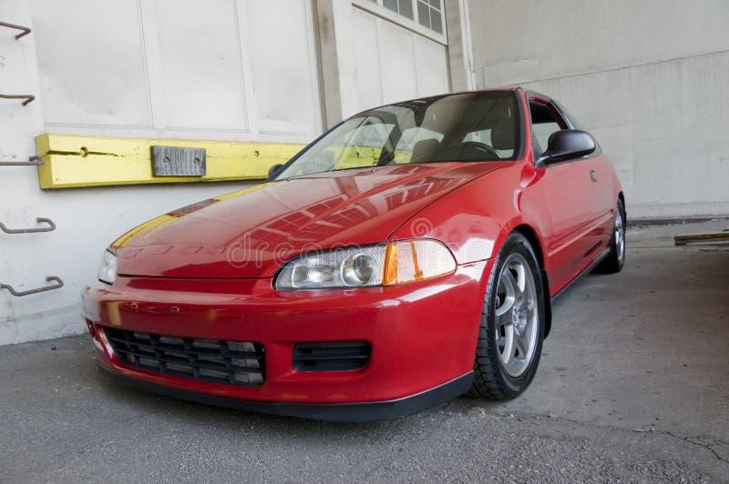 Automobile compatta di sport rosso fotografia stock libera da diritti