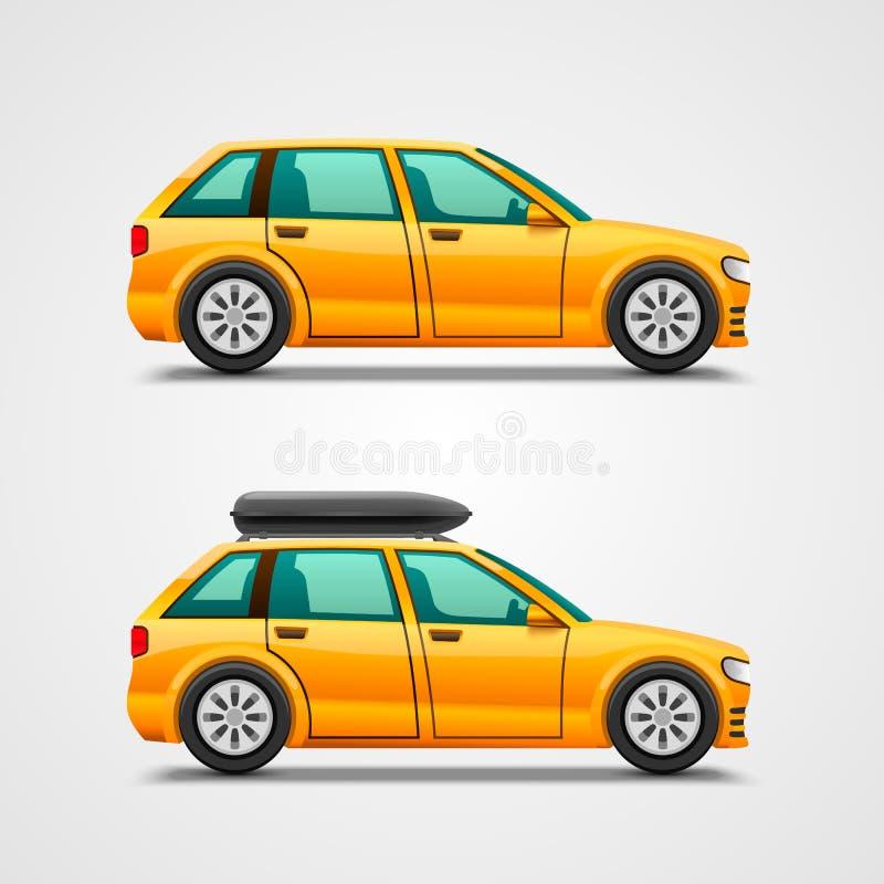 Automobile con i bagagli royalty illustrazione gratis