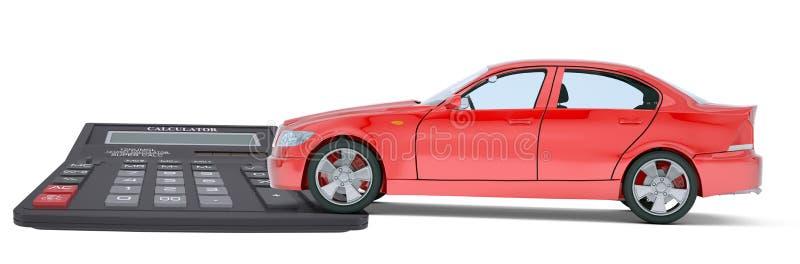 Automobile con il calcolatore illustrazione vettoriale