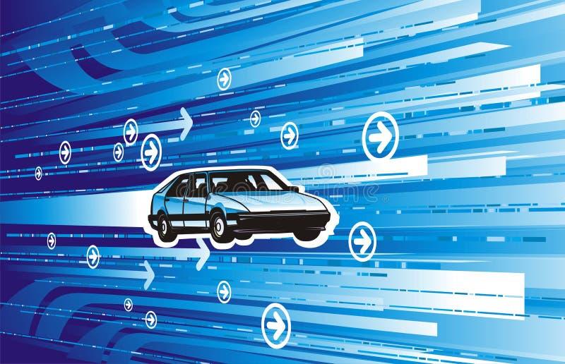 Automobile con l'alta velocità fotografie stock