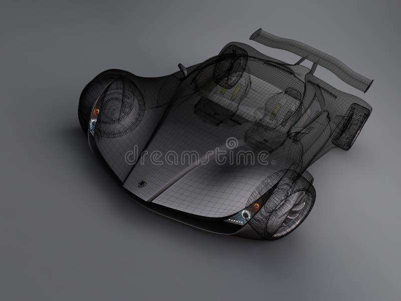 Automobile con la griglia royalty illustrazione gratis