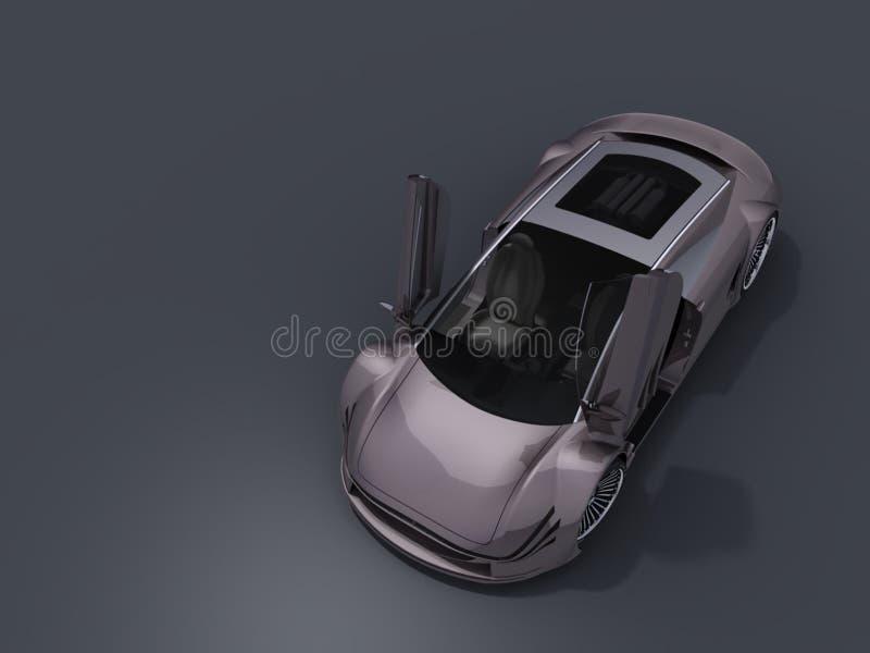 Automobile con le porte aperte illustrazione di stock