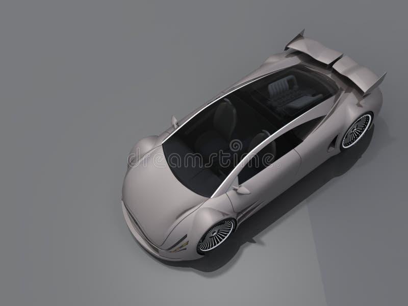 Automobile con un diruttore royalty illustrazione gratis