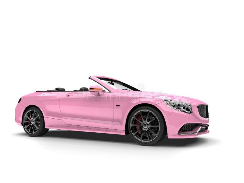 Automobile convertibile di lusso moderna abbastanza rosa fotografia stock libera da diritti