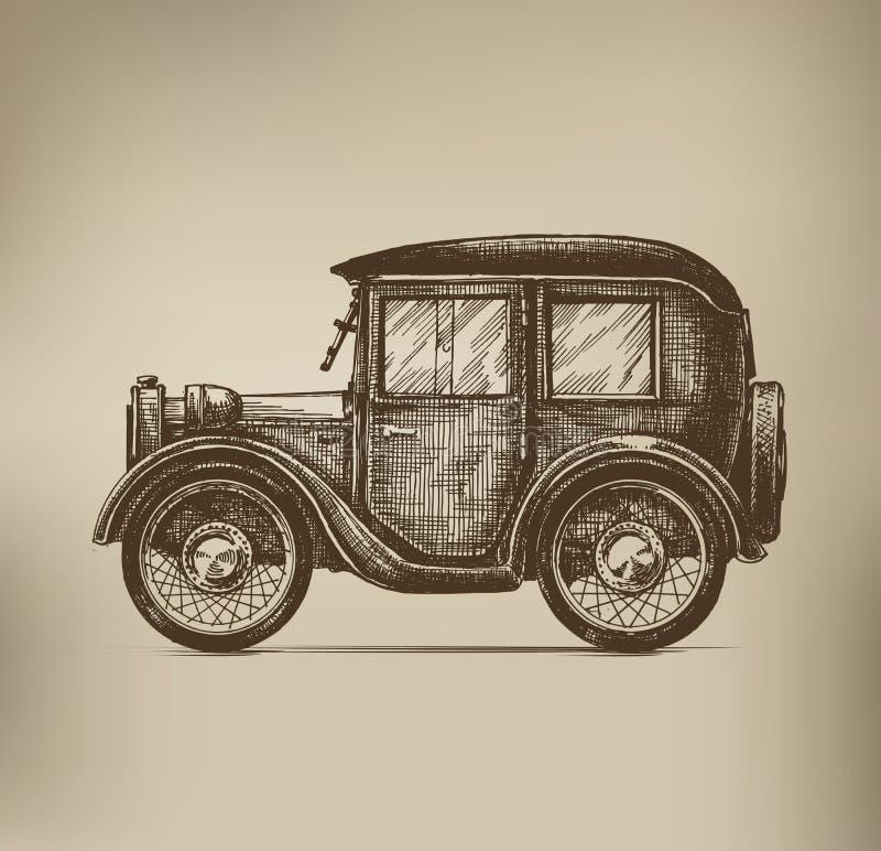 Automobile d'annata illustrazione vettoriale