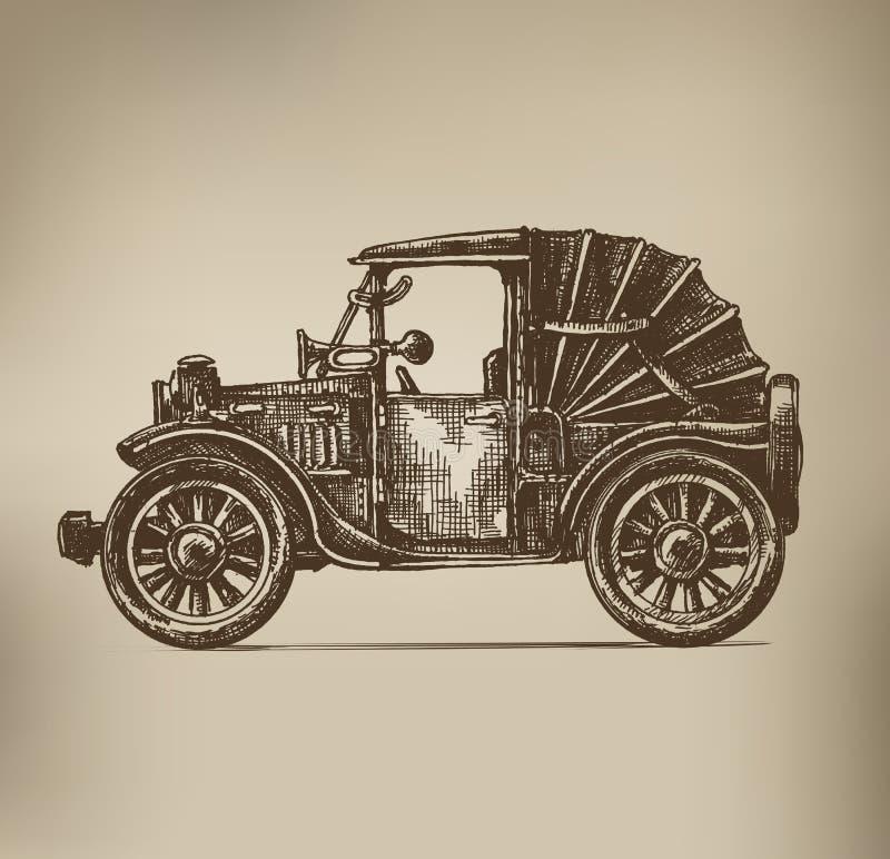 Automobile d'annata royalty illustrazione gratis