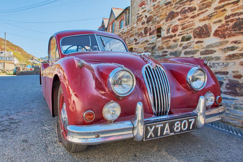 Automobile d'annata classica di Jaguar XK fotografie stock