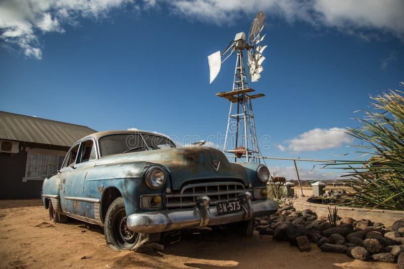 Automobile d'annata in Namibia fotografia stock