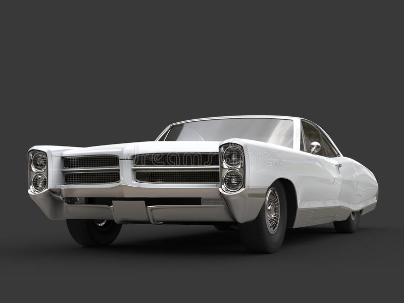 Automobile d'annata ristabilita bianco fresco illustrazione vettoriale