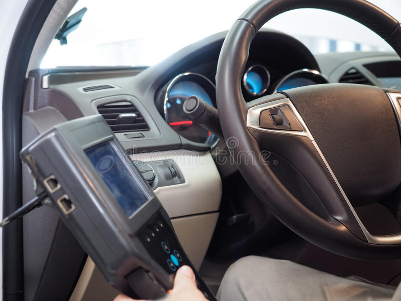 Automobile d'essai images stock