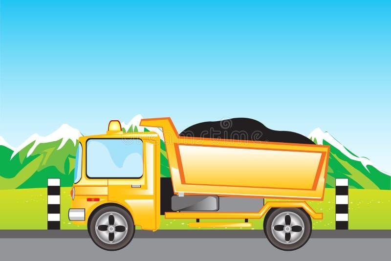 Automobile del carico sulla strada illustrazione di stock