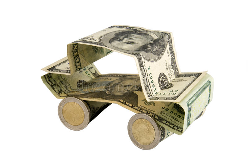 Automobile del dollaro fotografia stock libera da diritti