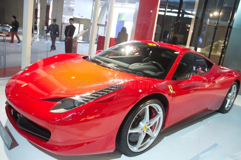 Automobile del Ferrari al international della Cina immagini stock libere da diritti