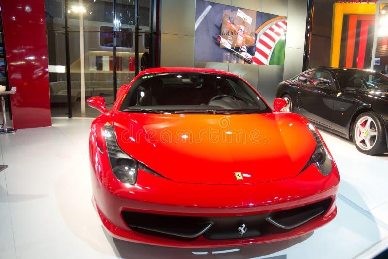 Automobile del Ferrari al international della Cina fotografia stock