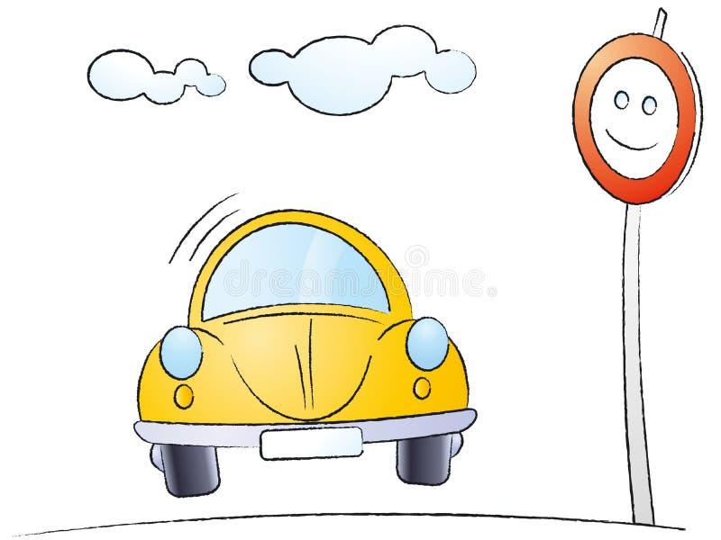 Automobile del fumetto illustrazione vettoriale