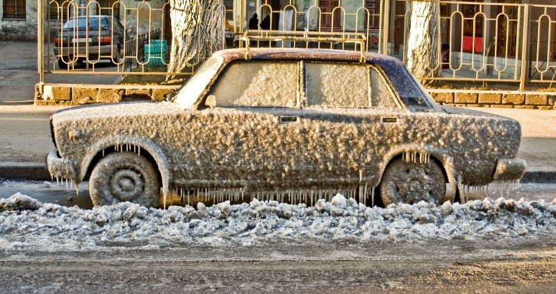 Automobile del ghiaccio fotografia stock libera da diritti