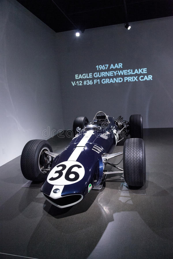 Automobile 1967 del Gran Premio dell'AAR Eagle Gurney-Weslake V-12 fotografie stock libere da diritti