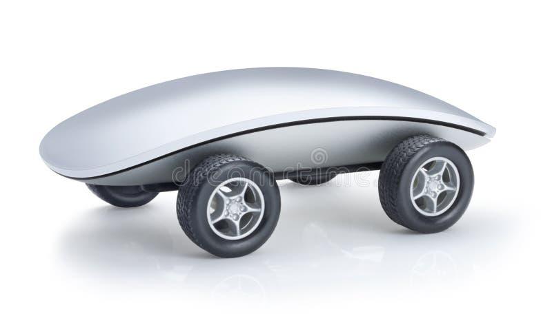 Automobile del mouse del calcolatore illustrazione di stock