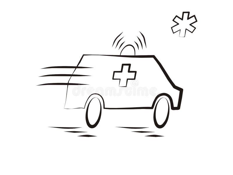 Automobile dell'ambulanza illustrazione di stock