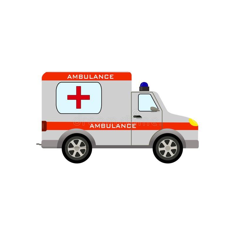 Automobile dell'ambulanza su un fondo bianco fotografie stock
