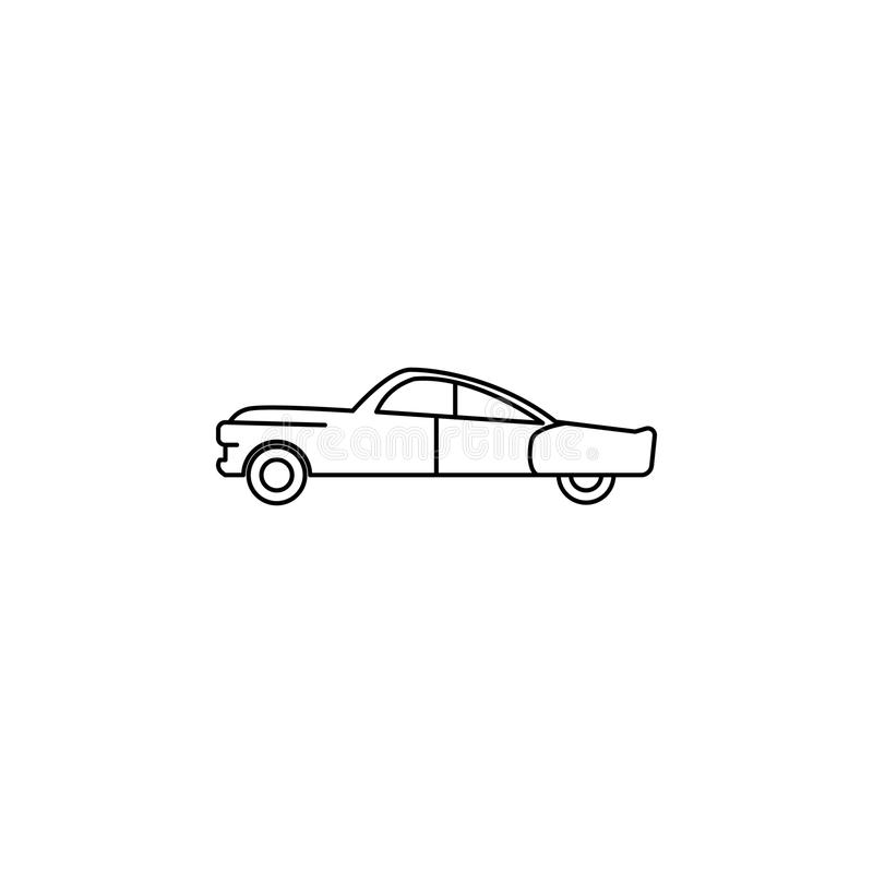 automobile dell'icona di anni '50 Elemento dell'icona della generazione per i apps mobili di web e di concetto Linea sottile icon royalty illustrazione gratis
