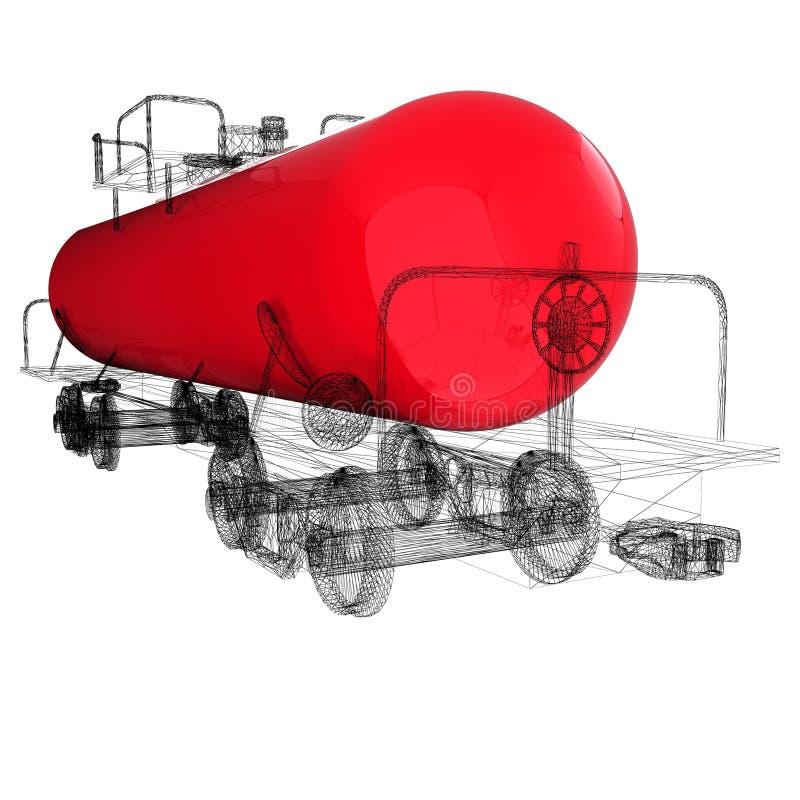 automobile della cisterna del modello 3D royalty illustrazione gratis