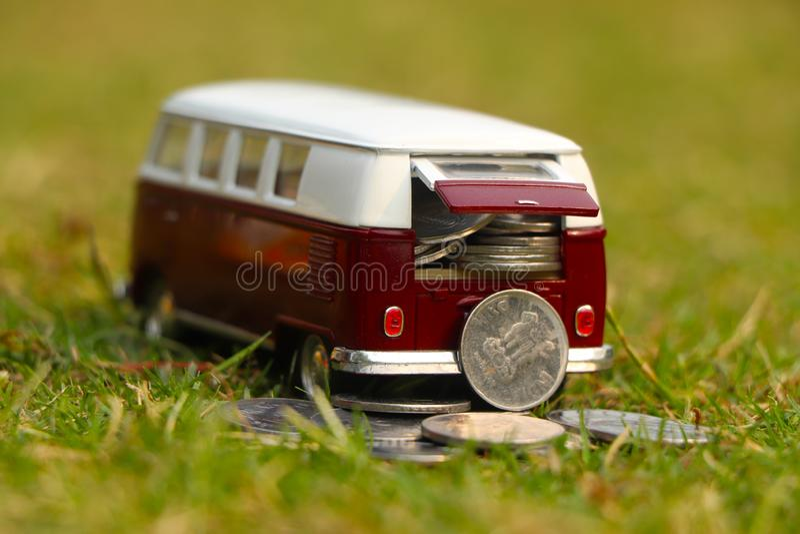 Automobile della moneta fotografia stock libera da diritti