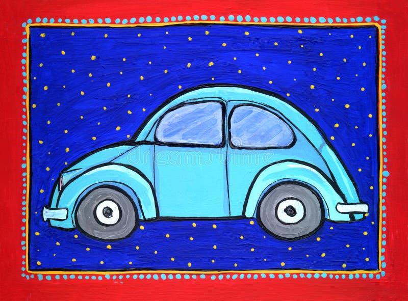 Automobile dello scarabeo di Volkswagen illustrazione di stock