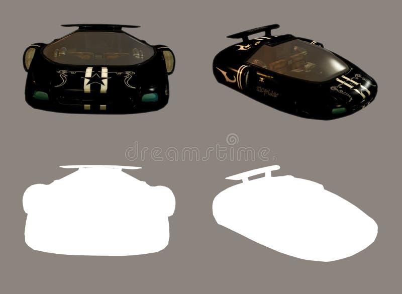 Automobile dello spazio royalty illustrazione gratis