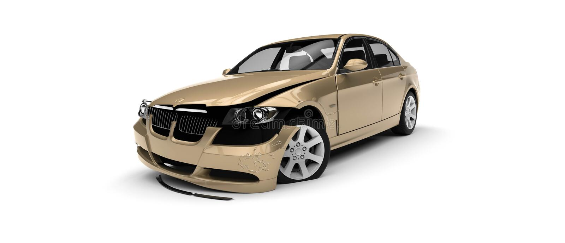 Automobile demolita illustrazione vettoriale