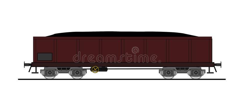 Automobile di carbone   illustrazione vettoriale