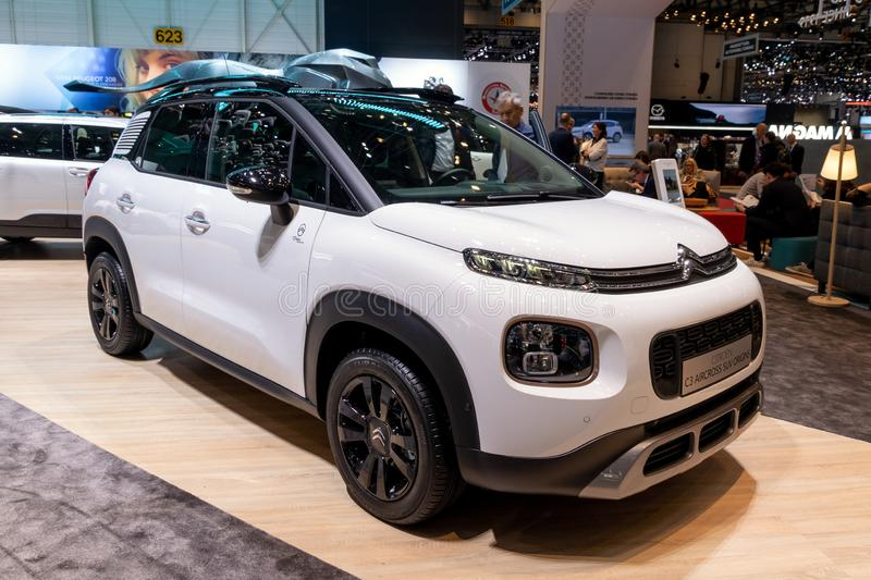 Automobile di Citroen C3 AirCross fotografia stock