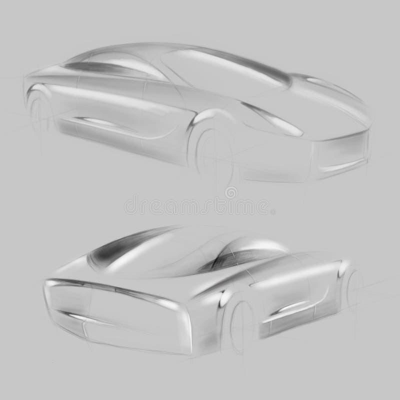 Automobile di concetto di alta tecnologia per l'imprenditore royalty illustrazione gratis
