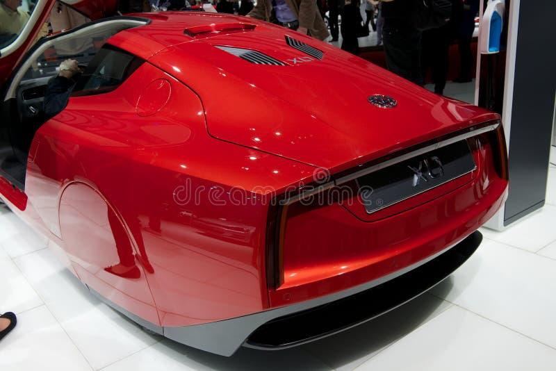 Automobile di concetto di VW XL1 fotografie stock libere da diritti