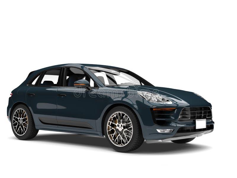 Automobile di famiglia fresca moderna dell'alzavola scura illustrazione vettoriale