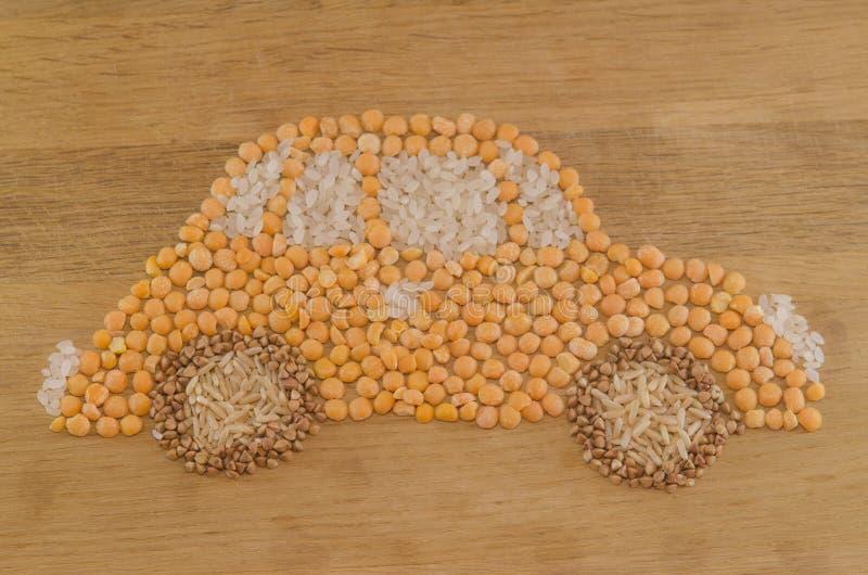Automobile di grano ecologica fotografie stock