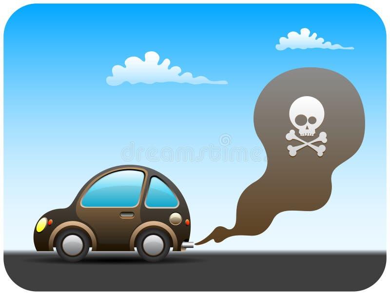 Automobile di inquinamento royalty illustrazione gratis
