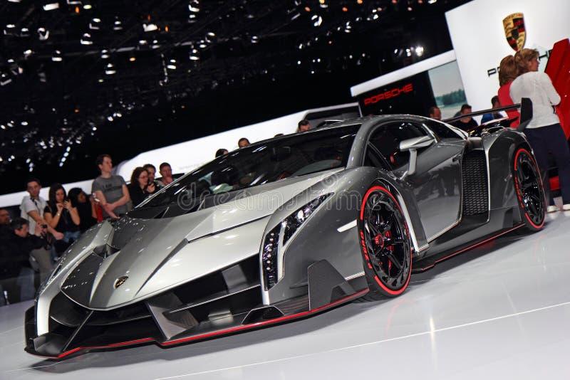 Lamborghini Veneno LP750-4 - salone dell'automobile di Ginevra 2013 immagine stock libera da diritti