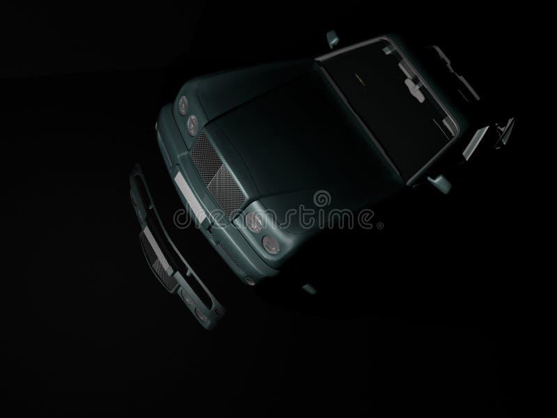 Automobile di lusso alla notte fotografia stock libera da diritti