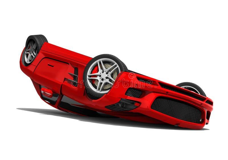 Automobile di lusso demolita illustrazione vettoriale