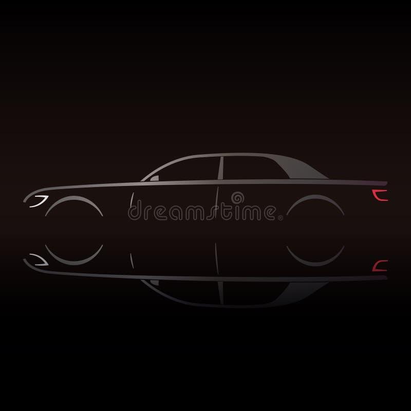 Automobile di lusso di prestigio di affari illustrazione di stock