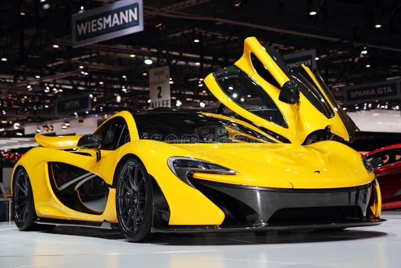 McLaren P1 - Salone dell'automobile di Ginevra 2013 immagini stock libere da diritti